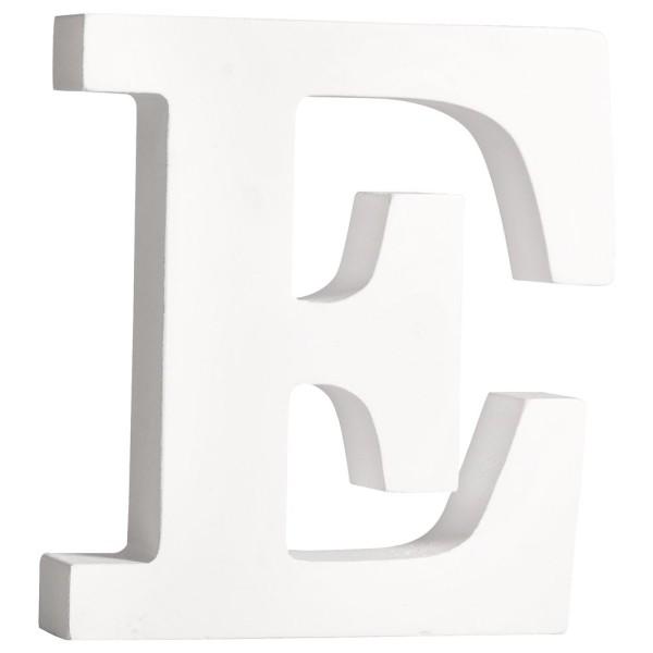 Buchstabe E weiß