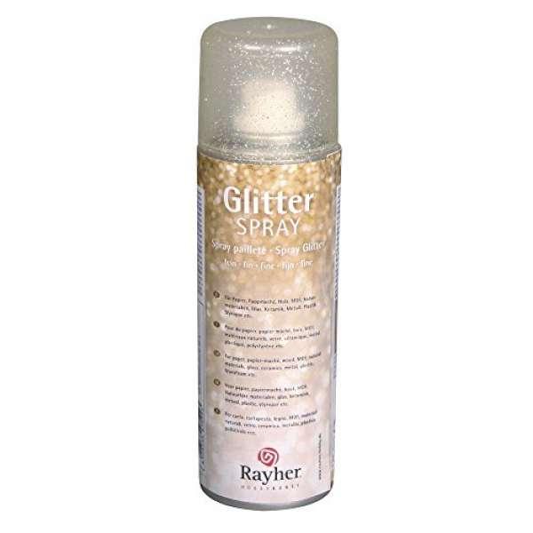 Glitterspray fein 125ml gold