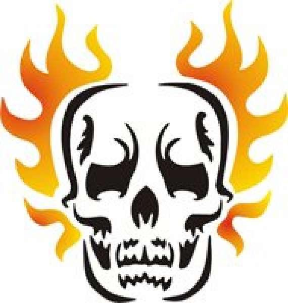 Selbstklebe Schablone Skull