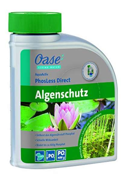Oase Wasseraufbereiter AquaActiv PhosLess Direct 500 ml, silber Biozid