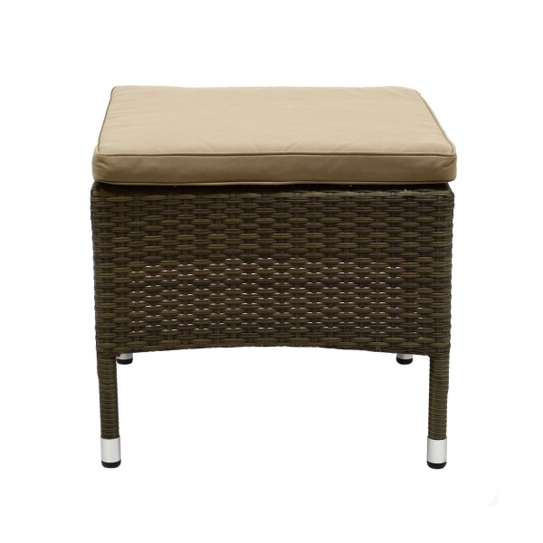 Hocker Rom Coffeemilk+Kissen