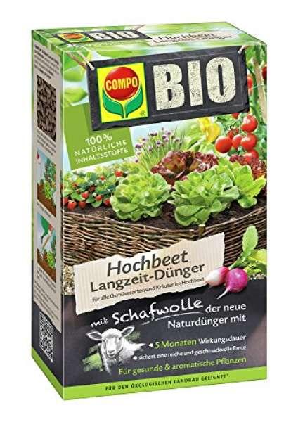 Compo Bio HHochbeet Langzeit-Dünger mit Schafwolle 750g