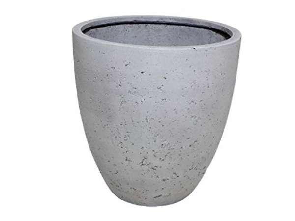 Outdoor Blumenkübel Grau in Steinoptik Medium