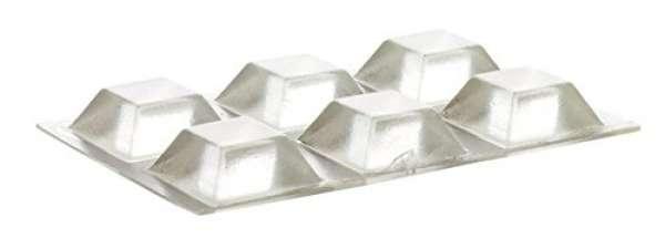Home Xpert 6 Stück Schutzpuffer CLEAR Quadrat, Anschlagpuffer, Möbelpuffer, Anschlagdämpfer, transpa