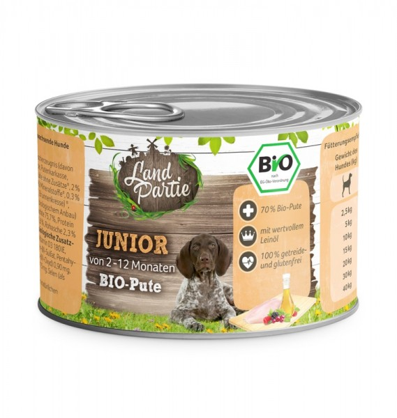 LandPartie Bio JUNIOR - Pute - 200g