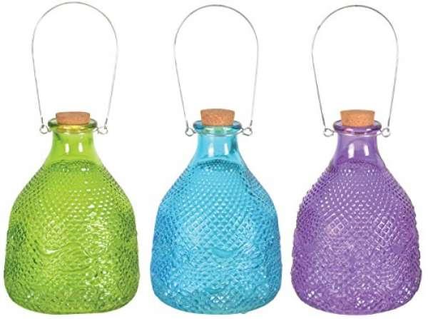 Esschert Design Vintage Wespenfalle mit Glas Größe L, mit Drahtgriff farbig