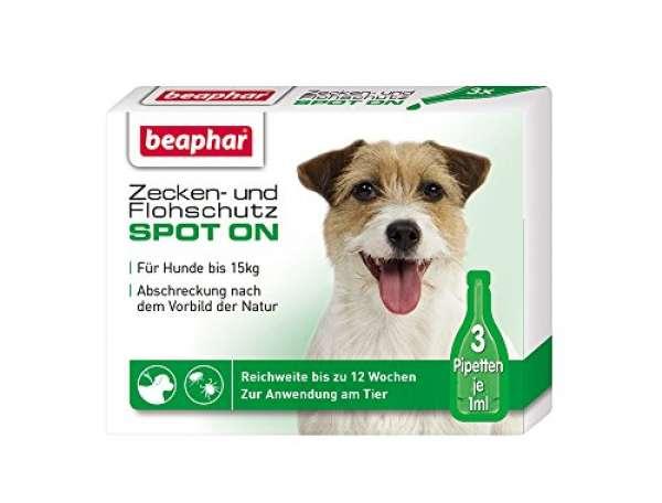 beaphar Zecken- und Flohschutz SpotOn für kleine Hunde 3x1ml