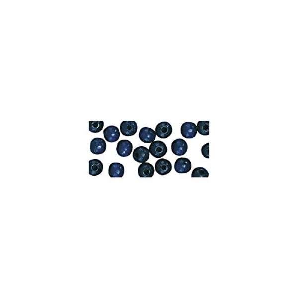 Holz Perlen pol. 12mm blau dunkel 32St.