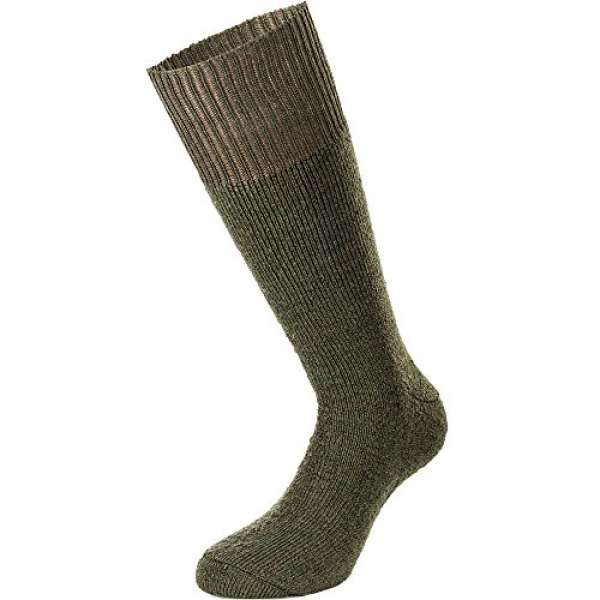 Nordpol Warmer Vollplüsch-Strumpf aus Wolle/Polyester-Mischgewebe, 45 47