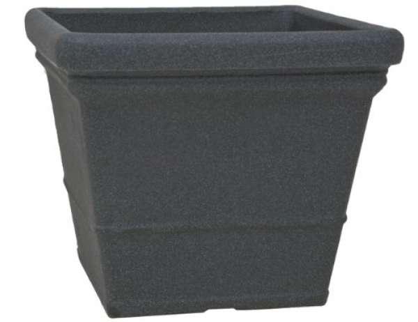 Pflanztopf Lisa quadrat schwarz-granit 40xH34cm