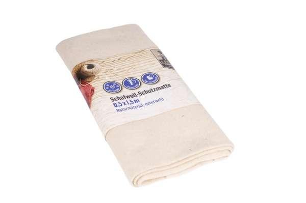 Schafwollmatte 0,5x1,5m naturweiß LW