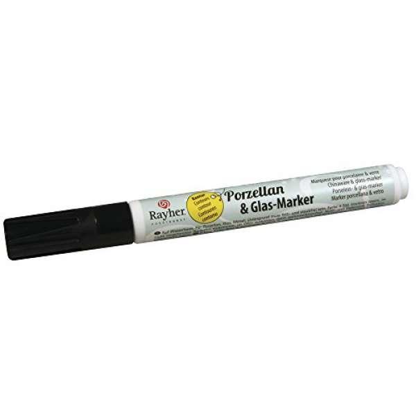 Porz.&Glas-Marker Kontur 1mm schwarz