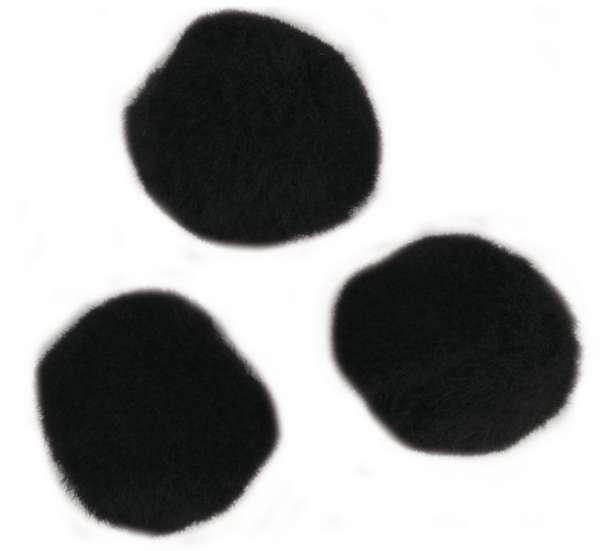 Pompons schwarz 50Stk. 20mm