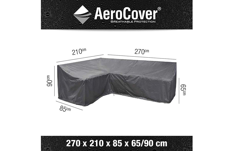 AeroCover Schutzhülle in L Form links für Lounge Sets, 270 x 210 x 85 x 65 90 cm Schutzhüllen