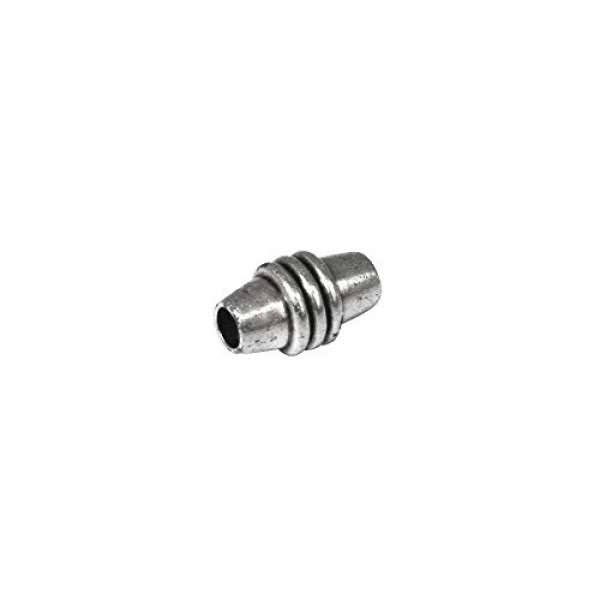 Metall Walze 6mm Loch 2,5mm altsilber