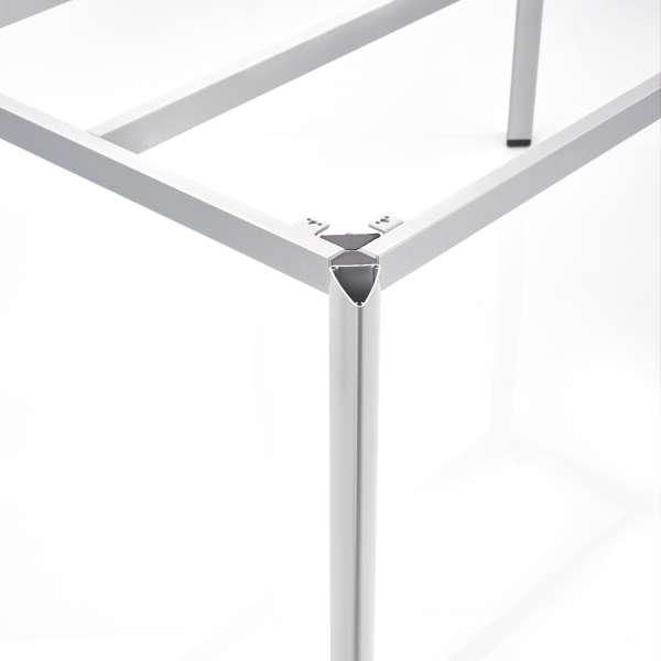 Tischgestell EDGE 95x160cm Alu silber
