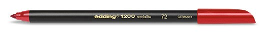 edding 1200 metallic colorpen - 072 Rot Metallic