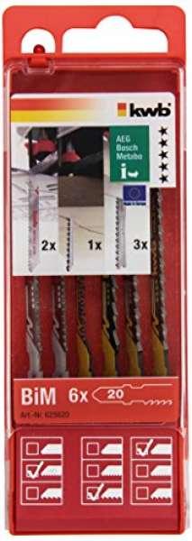 KWB Stichsägeblätter-Set, 6-teilig , Einnockenschaft, 6256-20