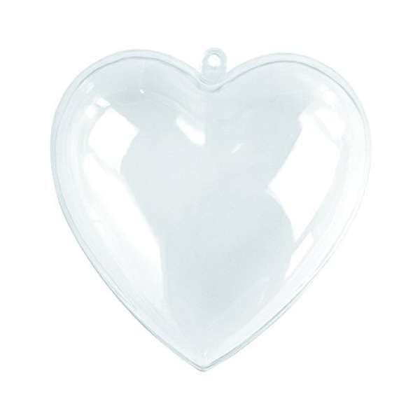 Plastik Herz 2tlg. 10cm