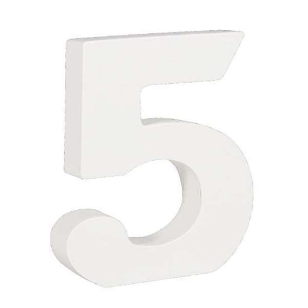 Nummer 5 weiß