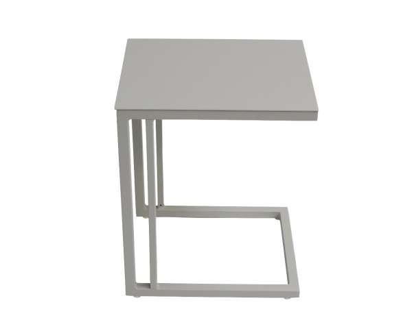 Beistelltisch Delfi 36x43cm weiß-grau