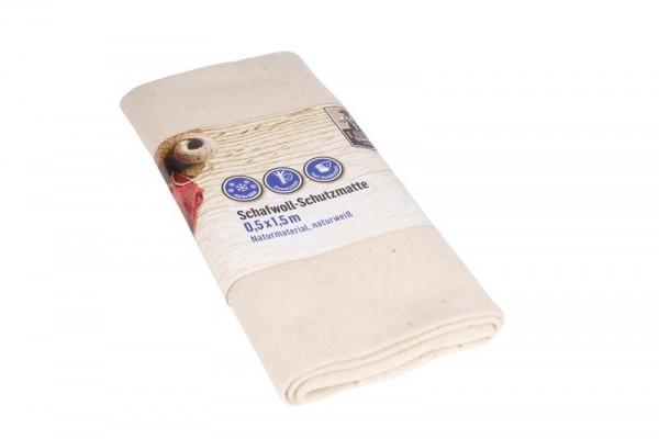 Landwerker Winterschutzmatte Schafwolle 0,5x1,5m naturweiß