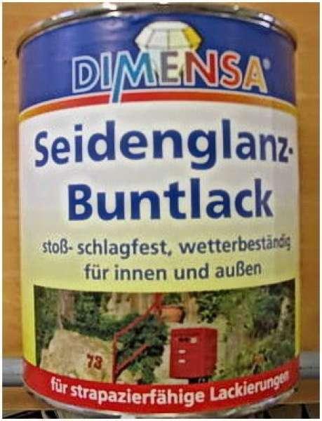 750 ml Seidenglanzlack / Buntlack Schwarz Ral 9005