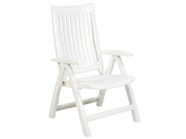 Sessel Roma hoch weiß klappbar