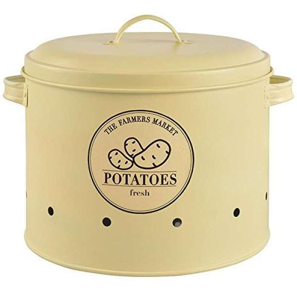 Esschert Design Vorratsdose für Kartoffeln aus Metall