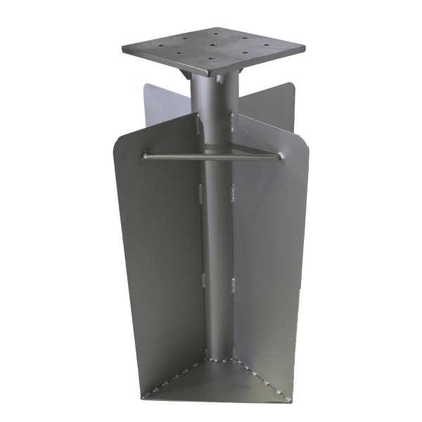 Bodenhülse aus Stahl 28x28x60cm