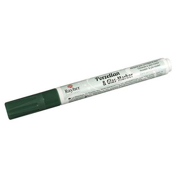 Porz.&Glas-Marker 1-2mm blattgrün