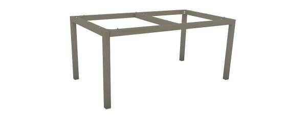 Tischgestell 130x80cm Alu Taupe