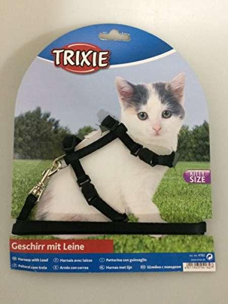 Trixie Kätzchen-Geschirr mit Leine Nylon, 19-31 cm / 8 mm