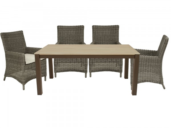 Set Sessel Chicago grey willow + Tisch Keitum